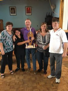 Branch 11 are Cribbage Champions for Zone D3. Branch 11 will host this event next year. All 5 Branch 11 teams entered move on to District. The Branch 11 team that came in First Place.From left to Right. Lilly Philips Zone D3 Sports Officer, Eunice Francis, Jim McKiel, Lynn Somerton and Dave Lane.